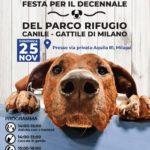 FESTA PER IL DECENNALE DEL PARCO RIFUGIO CANILE/GATTILE DEL COMUNE DI MILANO