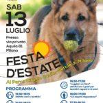 13 LUGLIO, FESTA D'ESTATE AL PARCO RIFUGIO CANILE GATTILE DEL COMUNE DI MILANO